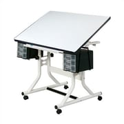 Alvin and Co. CraftMaster Wood Drafting Table; White by
