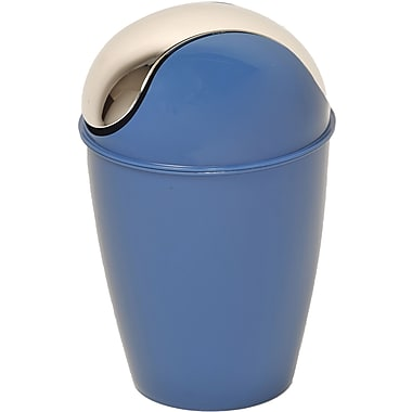 Evideco Plastic 1.2 Gallon Swing Top Trash Can; Navy Blue