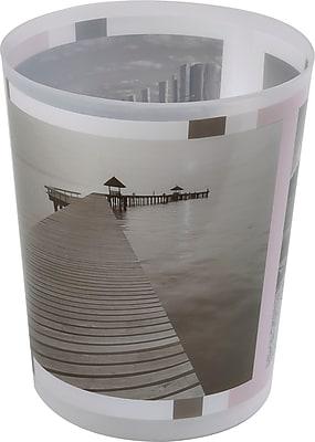 Evideco Seaside 1.2 Gallon Waste Basket
