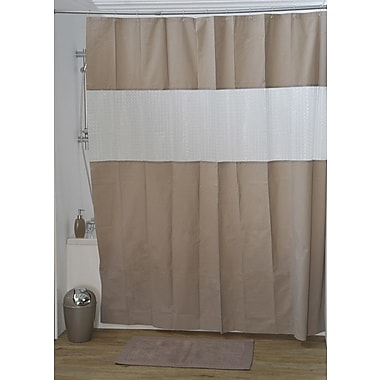 Evideco Laser Shower Curtain; Taupe