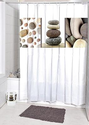 Evideco Belle Ile Printed Shower Curtain