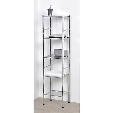 Evideco 12.6'' W x 52.4'' H Bathroom Shelf; Chrome