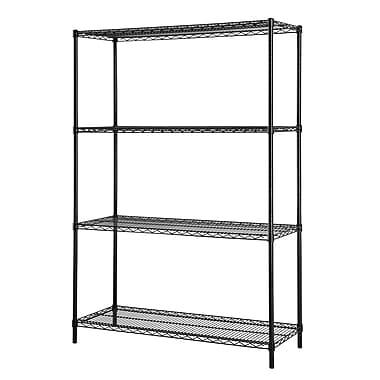 Excel All Purpose 4 Shelf Shelving Unit I; Powder Coated