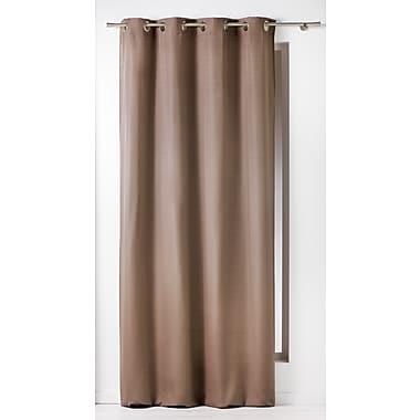 Evideco Panama Single Curtain Panel; Taupe