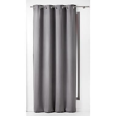Evideco Panama Single Curtain Panel; Gray