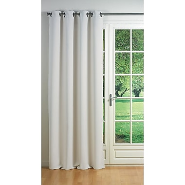 Evideco Cocoon Blackout Thermal Single Curtain Panel; Light Gray