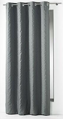 Evideco Lineo Single Curtain Panel; Gray