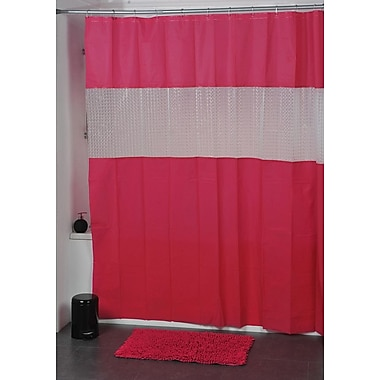 Evideco Laser Shower Curtain; Fuchsia