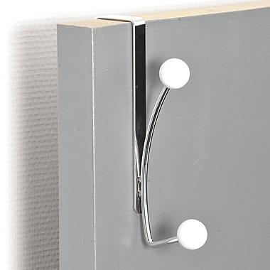 Evideco 2-Hook Over-the-Door Towel Hook; White
