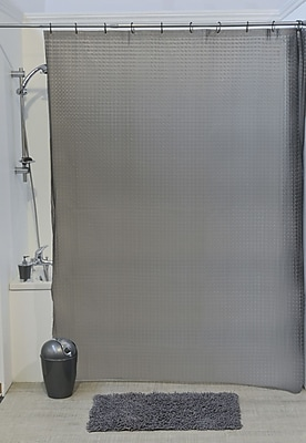 Evideco Laser Eva 3D Effect Shower Curtain; Gray