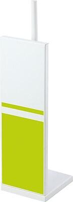 Evideco Freestanding Toilet Tissue Roll Storage Holder; White / Lime Green