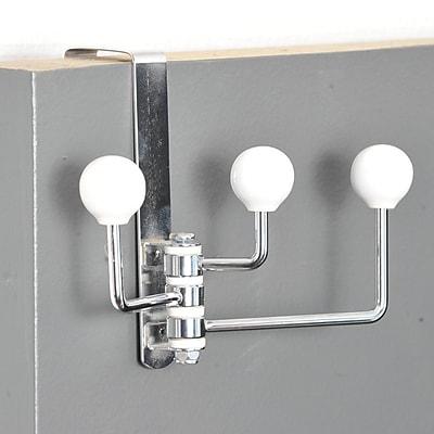 Evideco Over-The-Door Metal Swivel Hook; White
