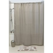 Evideco Solid Shower Curtain; Taupe