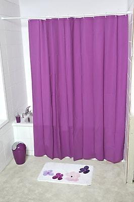Evideco Eva Solid Shower Curtain; Purple