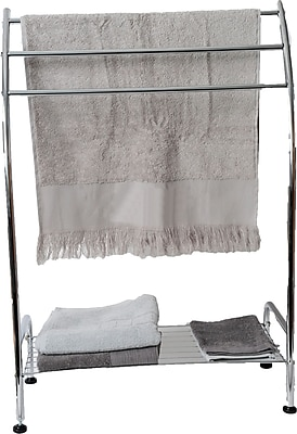 Evideco Three Tier One Shelf Curved Free Standing Towel Stand