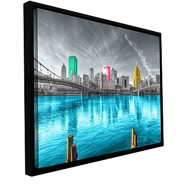 ArtWall 'Pittsburgh' by Revolver Ocelot Framed Photographic Print on Wrapped Canvas; 12'' H x 18'' W