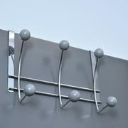 Evideco 6-Hook Over-the-Door Hook Rack; Gray