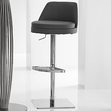 Bellini Modern Living Dante Adjustable Height Swivel Bar Stool; Brown