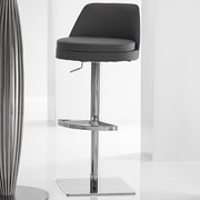 Bellini Modern Living Dante Adjustable Height Swivel Bar Stool; Grey