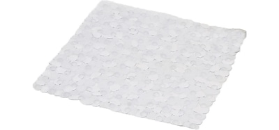 Evideco Non Skid Square Shower Mat; Clear