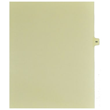 Mark Maker Legal Exhibit Index Tab Buff Single Tabs, 1/15th Cut, Letter Size, No Holes, Number 66, 25/Pack