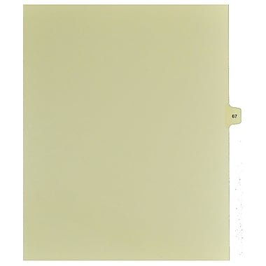 Mark Maker Legal Exhibit Index Tab Buff Single Tabs, 1/15th Cut, Letter Size, No Holes, Number 67, 25/Pack