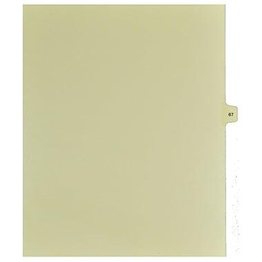 Mark Maker – Onglets séparateurs juridiques beiges, 1/15 onglets, format lettre, sans trous, numéro 67, 25/paquet