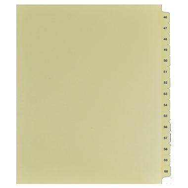 Mark Maker – Onglets séparateurs juridiques beiges, 1/15 onglets, format lettre, sans trous, numéros 46 à 15