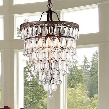 Warehouse of Tiffany Martinee 4-Light Crystal Chandelier
