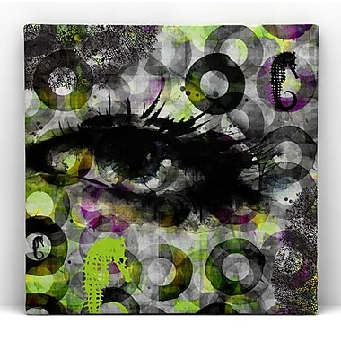RedNoir Eye Sea Framed Graphic Art on Wrapped Canvas