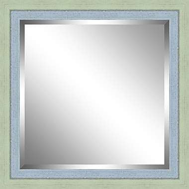 Ashton Wall D cor LLC Beveled Mirror; Green / Sky
