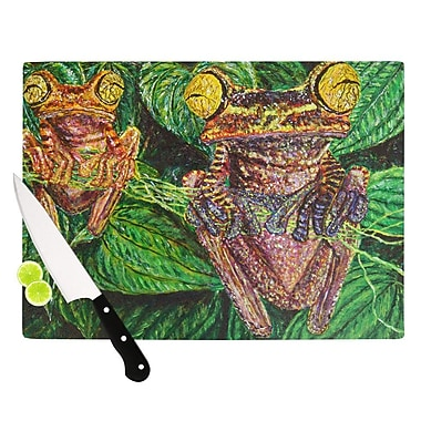 KESS InHouse Frogs by David Joyner Cutting Board; 0.5'' H x 15.75'' W x 11.5'' D