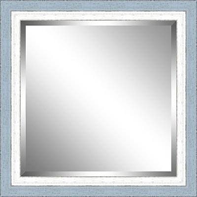 Ashton Wall D cor LLC Beveled Mirror; Sky / White