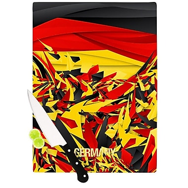 KESS InHouse Germany by Danny Ivan World Cup Cutting Board; 0.5'' H x 11'' W x 7.5'' D