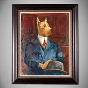 WexfordHome 'Inspector Doglesh' by Avery Tilman Framed Painting Print on Wrapped Canvas