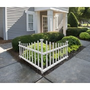 Zippity Outdoor Products 30 in. x 40 in. Ashley Vinyl Corner Picket Accent Fence