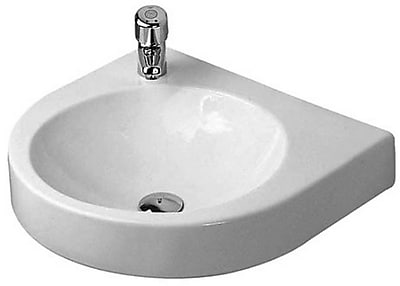 Duravit Architec Ceramic 23'' Wall Mount Bathroom Sink w/ Overflow WYF078278412691