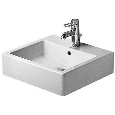 Duravit Vero Ceramic Rectangular Vessel Bathroom Sink w/ Overflow