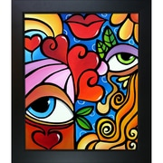 Tori Home 'Bubbles' by Tom Fedro Framed Print Painting