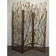 Screen Gems 70'' x 58'' Tree Screen 3 Panel Room Divider