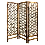 Screen Gems 69'' x 60'' Rope Screen 3 Panel Room Divider