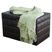 Rizzy Home Acrylic Throw; Green