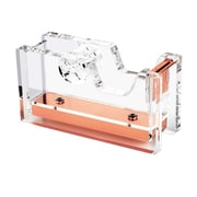 "Insten Acrylic Desktop Tape Dispenser, 1"" Core, Clear/Rose Gold Deluxe Design (2174129)"