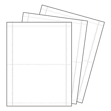 KostklipMD – Papier à affiche et étiquette perforé, 5 haut. x 7 long. (po), blanc, 1000 feuilles/paquet (107P-101081)