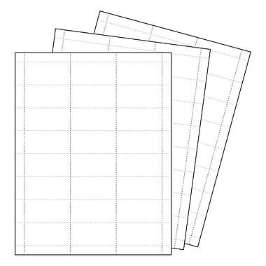 KostklipMD – Papier à affiche et étiquette perforé, 1,25 haut. x 2,5 long. (po), blanc, 1000 feuilles/paquet (107P-101164)