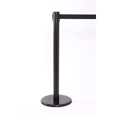 Wamaco Stanchion Post with Retractable Belt, Black