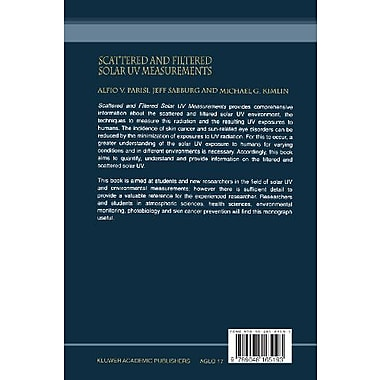 Scattered and Filtered Solar UV Measurements (Advances in Global Change Research), Used Book (9789048165193)