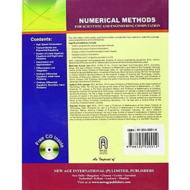 Numerical Methods for Scientific and Engineering Computation (9788122420012)