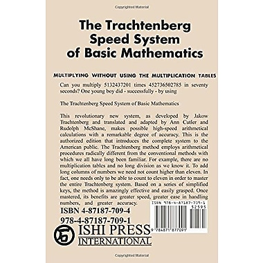 The Trachtenberg Speed System of Basic Mathematics, Used Book (9784871877091)