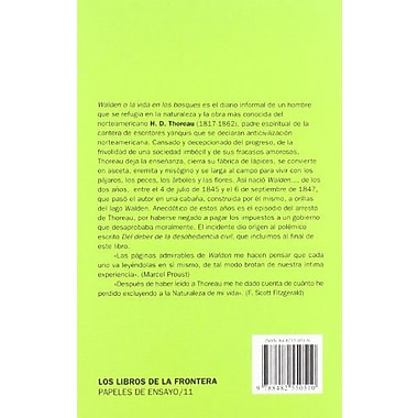 Walden o la Vida en los Bosques (Spanish Edition), Used Book (9788482550510)
